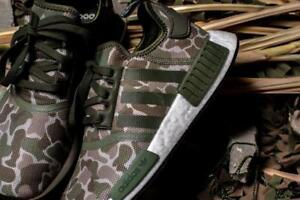 Details about Adidas NMD_R1 Nomad Duck Camo Trace Cargo Olive Green Brown Boost Men's 9 Shoes