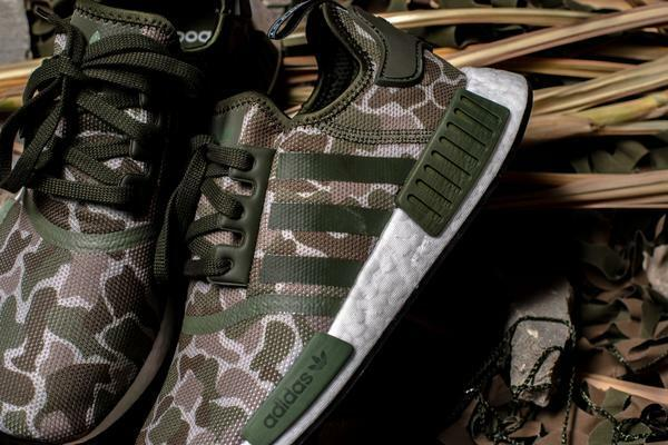 lowest price d3178 ea162 Adidas NMD_R1 Nomad Duck Camo Trace Cargo Olive Green Brown Boost Men 10.5  Shoes