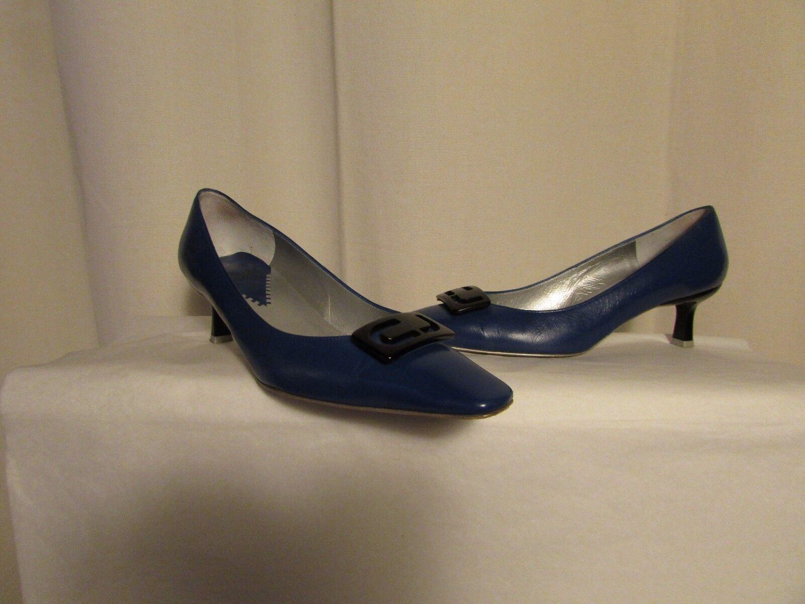 escarpins Charles JOURDAN cuir bleu pointure 6,5B 6,5B 6,5B a34d8e