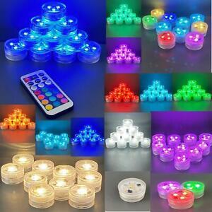 Pack-of-10-Remote-Control-Triple-Tea-Lights-Waterproof-amp-Sumbersible-LEDs