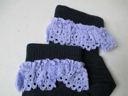 3-6 Months NWT Matilda Jane Deep Navy WASHY Good Heart Lace Socks XXS