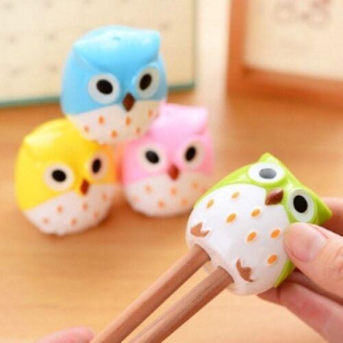 Cute Colorful Owl Pencil Sharpener Cartoon Dual Blade Design Stationary School