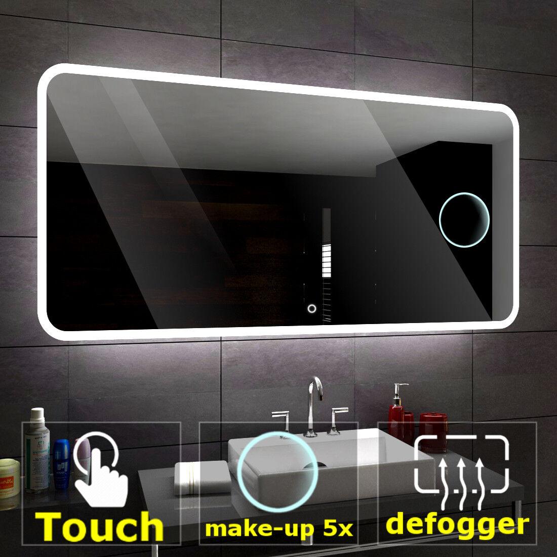 OSAKA Illuminated Led bathroom mirror    Switches   Make-up   Demister pad