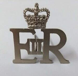 Genuine  Vintage British Military Issue Royal Cypher EIIR and Queens Crown ABL4
