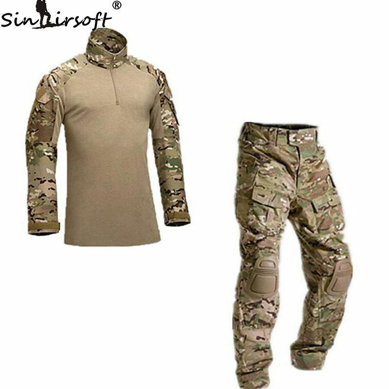 Army G3 Combat Uniform Shirt+Pants Set Military Airsoft MultiCam Camo BDU
