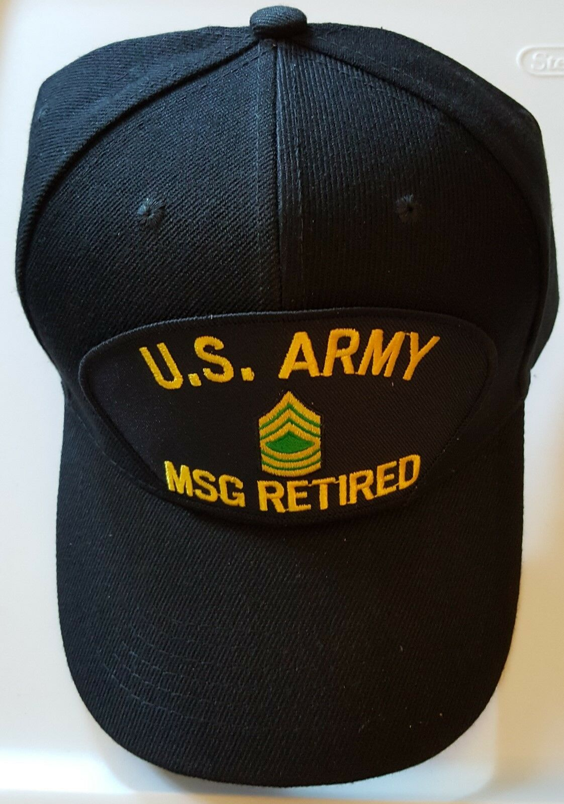 U.S. ARMY MSG MASTER Ball SERGEANT RETIRED Military Ball MASTER Cap 9767f6