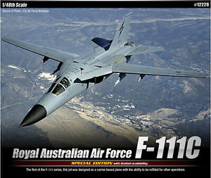 ACADEMY-12220-1-48-RAAF-Royal-Australian-Air-Force-F-111C-plastic-kit
