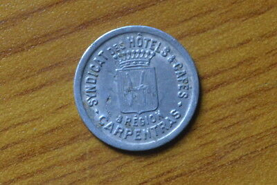 Coins: Ancient Other Ancient Coins Antico Buono Gettone Syndicat Hotel Caffe' Region Carpentras 10 Cent Subalpina