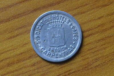 Coins: Ancient Coins & Paper Money Antico Buono Gettone Syndicat Hotel Caffe' Region Carpentras 10 Cent Subalpina