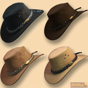 oZtrALa-Jacaru-Hat-Suede-LEATHER-Cowboy-Men-039-s-Womens-Childrens-Kids-AUSTRALIAN