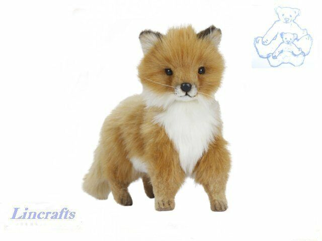 Standing Fox Cub Plush Soft Toy by Hansa. Sold by Lincrafts.  6995. 36cm
