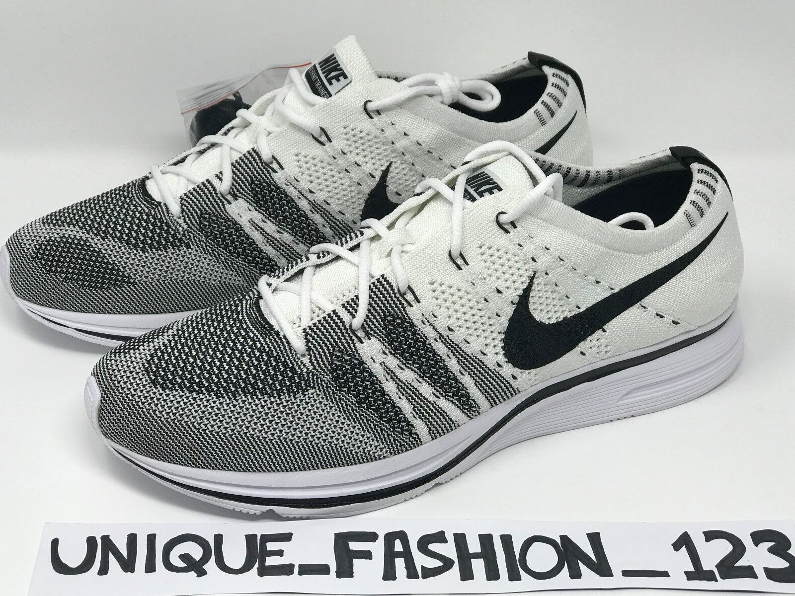 NIKE FLYKNIT TRAINER THE RETURN blanc  Noir 4 5 6 7 8 9 10 11 12 OREO OG