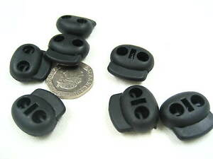 black small Toggles Cord Adjusters Orbs Spring Loaded cord locks Rope lock