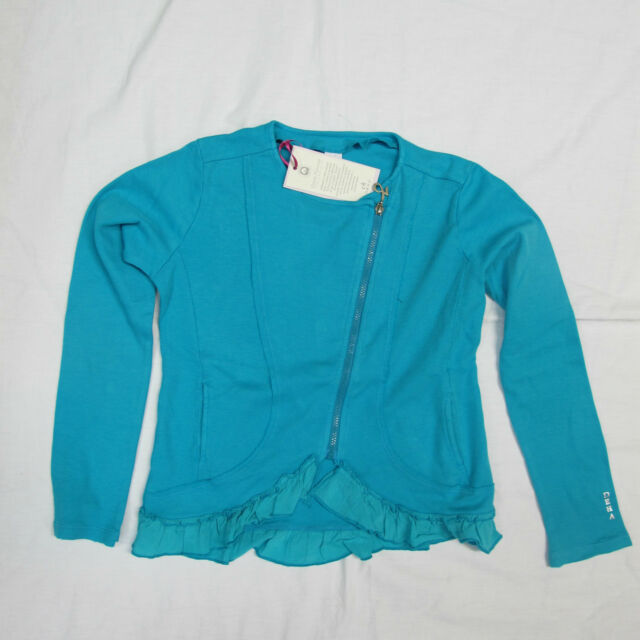 DEHA sweatshirt with zip girl mod.F87811 col. turquoise size S summer 2014