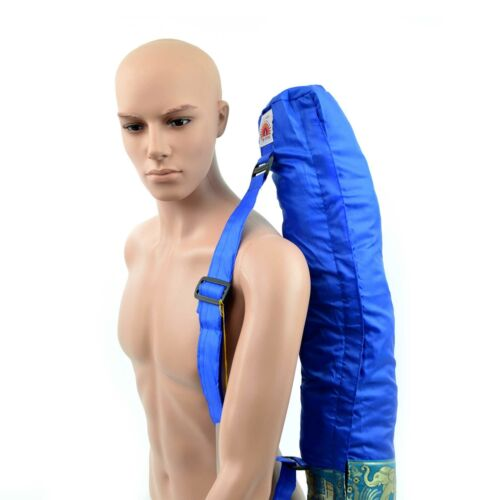 Yoga Mat Bag Blue Indian Inspired Full Zip Light Weight Breathable Easy Drying