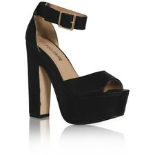 11768e255c3 item 3 WOMENS ANKLE STRAP LADIES PLATFORM CHUNKY HIGH HEEL SANDALS SHOES  SIZE 3-8 -WOMENS ANKLE STRAP LADIES PLATFORM CHUNKY HIGH HEEL SANDALS SHOES  SIZE 3- ...