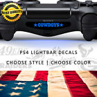 PS4 Playstation Lightbar Decal Sticker Gaming Accessory Sports Teams Set of 2
