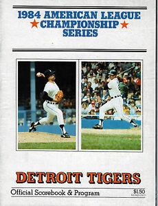 Details about Detroit Tigers 1984 American League Championship Series  Program