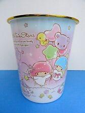 "Little Twin Stars Sanrio Original Plastic Basket 9.25"" X 8.25"" X 8.25"" Rare/HTF"