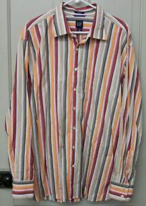 XXL Vintage Long Sleeved Striped Shirt