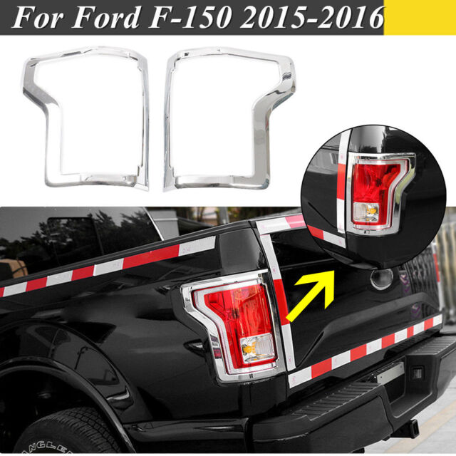 Chrome Rear Truck Tail Light Cover Trim Bezel Accessories For 16 17