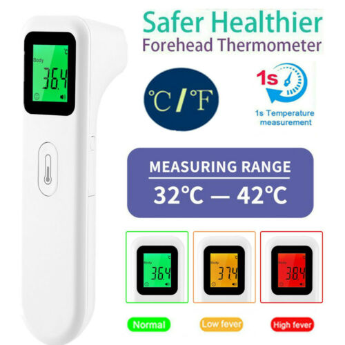 IR Thermometer Non-Contact Infrared LCD Digital Forehead Fever Temp Meter Gun