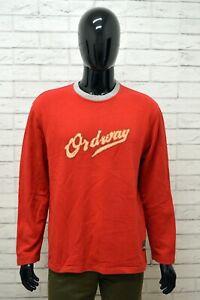 Felpa-Uomo-MARLBORO-CLASSICS-Taglia-XL-Cardigan-Maglione-Sweater-Rosso-Cotone