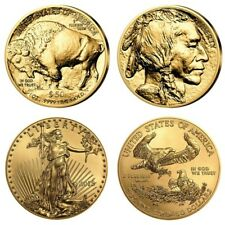 2 x 50 Dollar USA 2018 BU - 1 OZ Gold Buffalo 2018 + 1 OZ Gold Eagle 2018