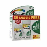 Centrum Adults Under 50 Multivitamins Bonus Size, Tablets 130 Ea (pack Of 5) on Sale