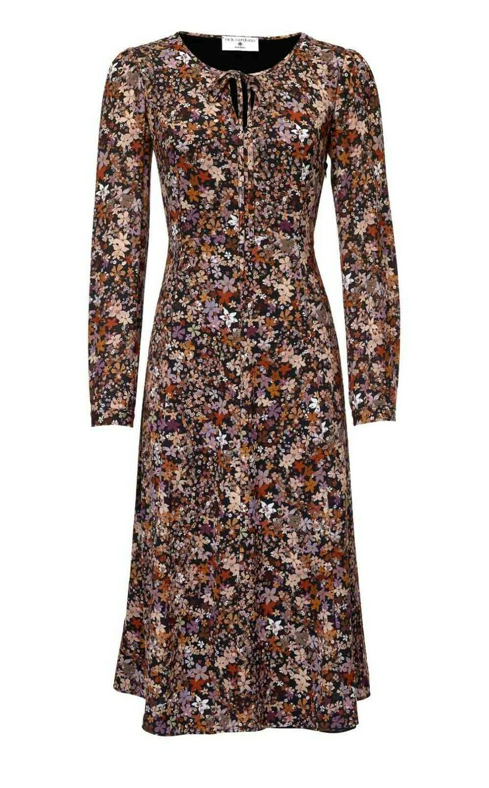 TCJ Rick Cardona Sexy Kleid Designerkleid Blaumen Blüten bunt Sommerkleid 40-46