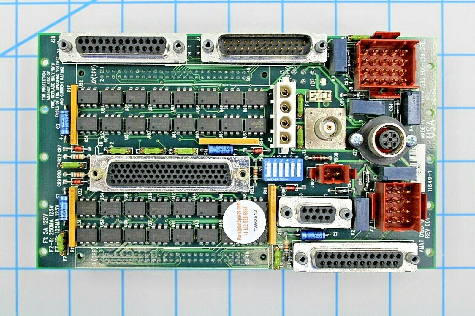 0190-04098 / PCB, 5.X FACTORY INTERFACE I/O DISTRIBUTION, FOR 0090-01220 / AMAT