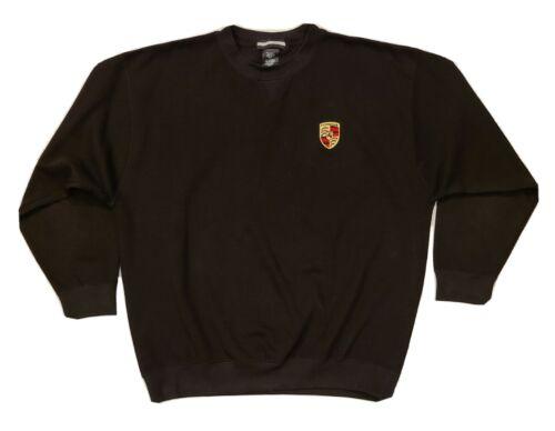 Vintage PORSCHE Brand Black Ribbed Crewneck Sweate