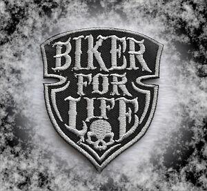 Détails sur Biker for Life, patch, écusson, aufbügler, 666, Iron On, badge, harley, moto afficher le titre d'origine