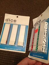 LUCKY DICE HOME GAMES OVER 80 PIECES PLUS HOLDER 1 NEW CARD 1 OPEN YOU GET LOT