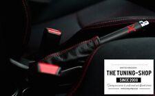 For Honda Civic EP3 Type R 01-05 Handbrake Gaiter Black Leather Red Stitching