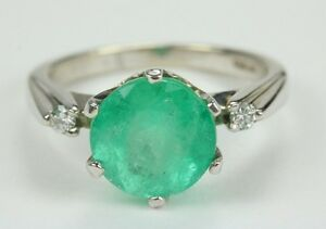 Perfection-3-65tcw-Round-Colombian-Emerald-Diamond-Engagement-Ring-14k