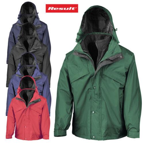 Résultat 1 en 3-Homme Zip /& Clip Outdoor Vent Veste Imperméable Heavy Duty Manteau