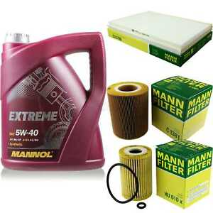 MANNOL-5l-Extreme-5w-40-motor-aceite-Mann-Filter-mercedes-benz-a-Klasse-w168-a-140