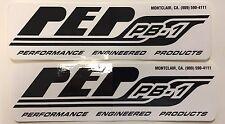 PEP ATV PB1 Black Shocks Stickers Pair (2) Honda 250R 450R YFZ450 YFZ450R Raptor