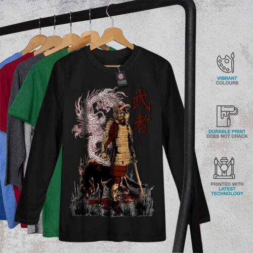Il GIAPPONE DRAGO Wolf Uomo Manica Lunga T-shirt Nuovewellcoda