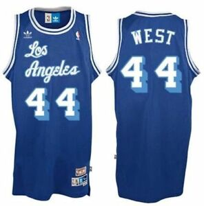 6b825c0c1 Jerry West Los Angeles Lakers NBA Swingman Adidas Throwback 7996A XL ...