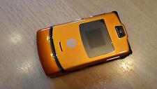 Motorola RAZR v3 Colore Arancione/foliert/senza SIM-lock con qualsiasi SIM utilizzabile...