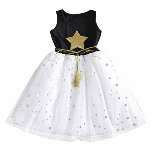 Toddler Kids Baby Girls Sleeveless Party Pageant Wedding Tulle Tutu Dresses
