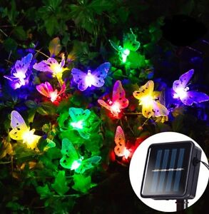 image is loading rgb led butterfly solar string light christmas xmas
