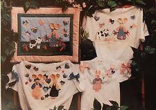 Cute Applique Bunny Rabbit & Buttercup Cow Pattern for Vest Place Mat Quilt