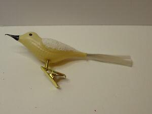 Christbaumschmuck Silber Vogel Gelb Gold Bird Weihnachtsschmuck Glas