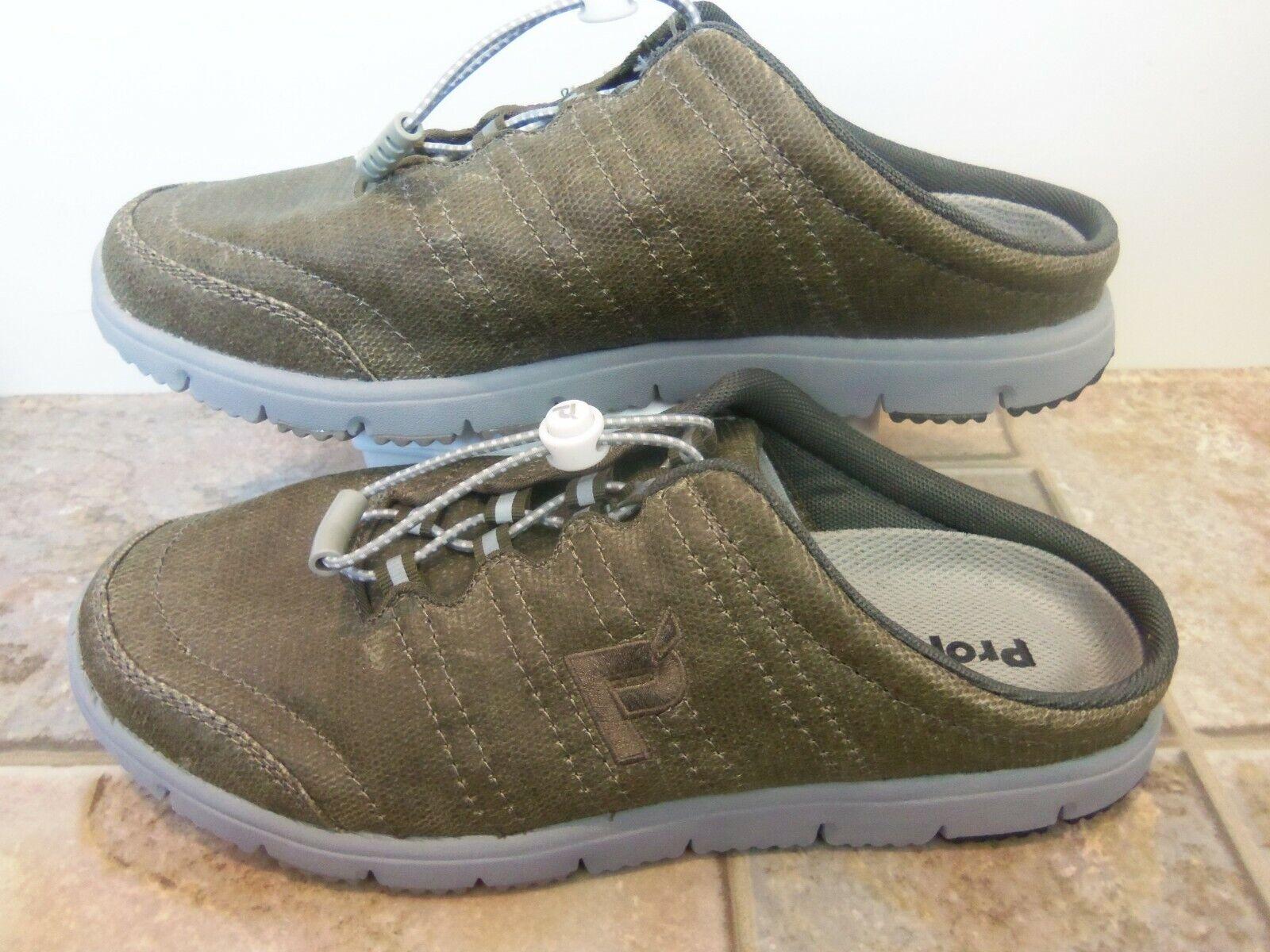 Propet shoes Women Mesh Dark Olive Green 10 M New