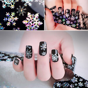 Nail-Art-Water-Decals-Stickers-Transfers-Spring-Water-Effect-Snowflake-Christmas