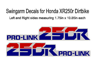 Swingarm Decals for Honda XR200r dirtbike XR200 XR 200 200r rd//gr