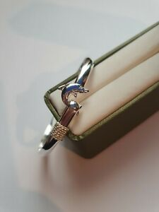Sweet Sterling Silver Dolphin Bangle